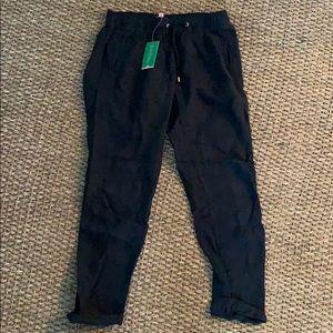 Black Linen Aden Pant NWT